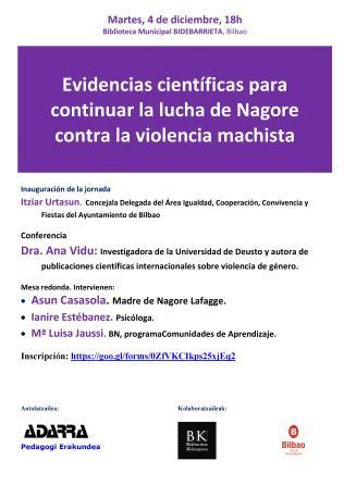 EVIDENCIAS CIENTIFICAS PARA CONTINUAR LA LUCHA DE NAGORE CONTRA LA VIOLENCIA MACHISTA.